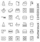 thin line vector icon set  ...   Shutterstock .eps vector #1143201104