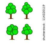 cartoon tree set | Shutterstock . vector #114320119