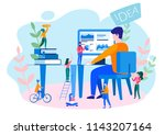 concept thoughts and analytics... | Shutterstock .eps vector #1143207164