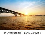 the nanjing yangtze river... | Shutterstock . vector #1143234257
