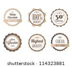 collection of retro chocolate... | Shutterstock .eps vector #114323881