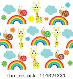 seamless kid pattern.vector...   Shutterstock .eps vector #114324331