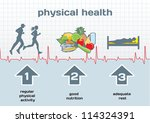 physical health infographic ... | Shutterstock .eps vector #114324391