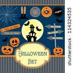 halloween set. vector...   Shutterstock .eps vector #114324535