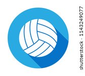 volleyball icon with long... | Shutterstock .eps vector #1143249077