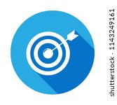 arrow and target icon with long ... | Shutterstock .eps vector #1143249161