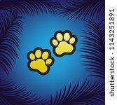 animal tracks sign. vector.... | Shutterstock .eps vector #1143251891