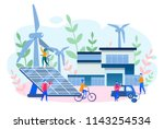 concept smart house  clean... | Shutterstock .eps vector #1143254534