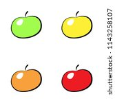 colorful apple icon set... | Shutterstock .eps vector #1143258107