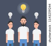 man have good idea. other... | Shutterstock .eps vector #1143259244