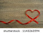 romantic valentines day red... | Shutterstock . vector #1143263594