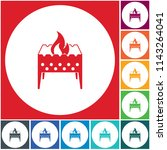 camping brazier icon. vector... | Shutterstock .eps vector #1143264041