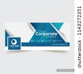 corporate facebook timeline... | Shutterstock .eps vector #1143272351