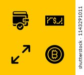 money icon set. bitcoin ...