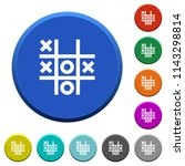 tic tac toe game round color... | Shutterstock .eps vector #1143298814