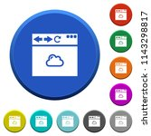 browser cloud round color... | Shutterstock .eps vector #1143298817