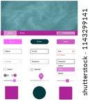 light pink vector design ui kit ...