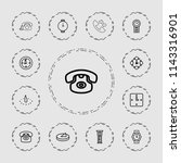 dial icon. collection of 13... | Shutterstock .eps vector #1143316901