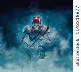 the phantom hockey player   3d... | Shutterstock . vector #1143318677