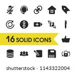 interface icons set with dollar ...