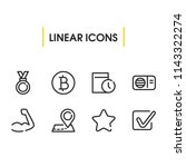 medal icon with bitcoin  map...