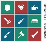 cut icon. collection of 9 cut... | Shutterstock .eps vector #1143326081