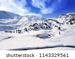cerler sky area in pyrenees of... | Shutterstock . vector #1143329561