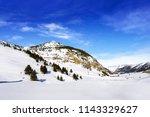cerler sky area in pyrenees of... | Shutterstock . vector #1143329627