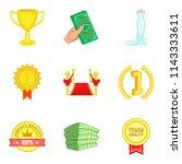 improve luck icons set. cartoon ... | Shutterstock . vector #1143333611