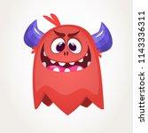 scary cartoon monster. vector... | Shutterstock .eps vector #1143336311