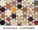 beneficial heart health food... | Shutterstock . vector #1143336881