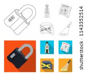 coded lock  the appearance of... | Shutterstock .eps vector #1143352514