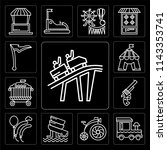set of 13 simple editable icons ... | Shutterstock .eps vector #1143353741