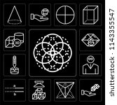 set of 13 simple editable icons ... | Shutterstock .eps vector #1143355547