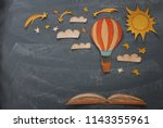 back to school concept. hot air ...   Shutterstock . vector #1143355961