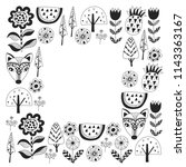 scandinavian pattern for... | Shutterstock .eps vector #1143363167