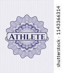 blue abstract linear rosette...   Shutterstock .eps vector #1143366314
