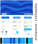 light blue vector ui kit with...