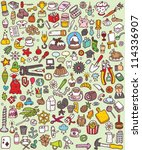 big doodle icons set  ... | Shutterstock .eps vector #114336907