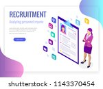 isometric hiring and... | Shutterstock . vector #1143370454