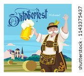 oktoberfest. traditional annual ... | Shutterstock .eps vector #1143375437