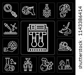 set of 13 simple editable icons ... | Shutterstock .eps vector #1143386414
