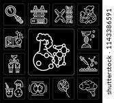 set of 13 simple editable icons ... | Shutterstock .eps vector #1143386591
