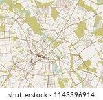 vector map of the city of bern  ... | Shutterstock .eps vector #1143396914