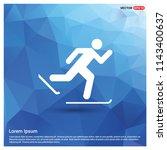 snow skating icon   vector icon | Shutterstock .eps vector #1143400637
