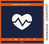 heart medical icon | Shutterstock .eps vector #1143419927