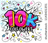 10000 followers illustration in ... | Shutterstock .eps vector #1143431351