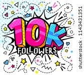 10000 followers illustration in ... | Shutterstock .eps vector #1143431351