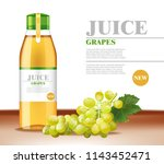 white grapes juice vector... | Shutterstock .eps vector #1143452471