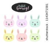 "poster with inscription ""rabbit ...   Shutterstock .eps vector #1143471581"